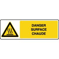 Panneau de danger horizontal surface chaude