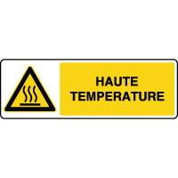 Panneau de danger horizontal haute température