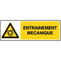 Panneau de danger horizontal entrainement mécanique