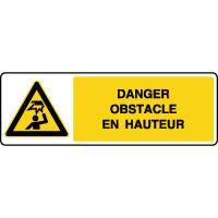 Panneau de danger horizontal obstacle en hauteur
