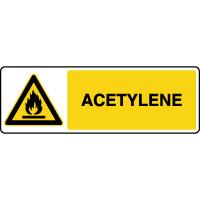 Panneau de danger horizontal acetylène