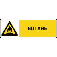 Panneau de danger horizontal gaz butane