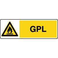 Panneau de danger horizontal GPL