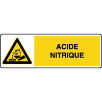 Panneau de danger horizontal acide nitrique