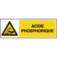 Panneau de danger horizontal acide phosphorique