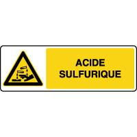 Panneau de danger horizontal acide sulfurique