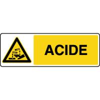 Panneau de danger horizontal acide