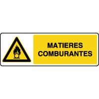 Panneau de danger horizontal matières comburantes