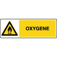 Panneau de danger horizontal oxygène