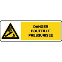 Panneau de danger horizontal bouteille pressurisée
