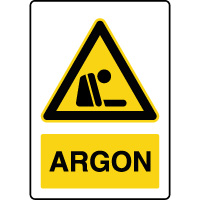 Panneau de danger vertical argon