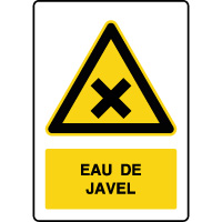 Panneau de danger vertical eau de javel