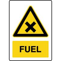 Panneau de danger vertical fuel