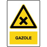 Panneau de danger vertical gazole