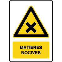 Panneau de danger vertical matières nocives
