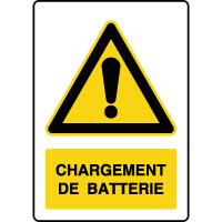 Panneau de danger vertical chargement de batterie