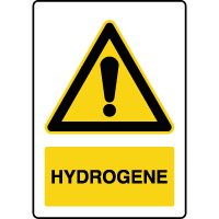 Panneau de danger vertical hydrogène