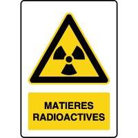 Panneau de danger vertical matières radioactives