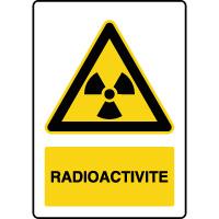 Panneau de danger vertical radioactivité