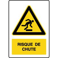 Panneau de danger vertical risque de chute
