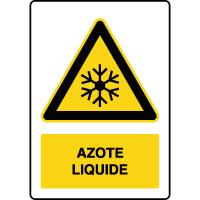 Panneau de danger vertical azote liquide