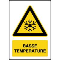 Panneau de danger vertical basse température