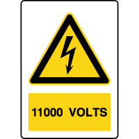 Panneau de danger vertical 1100V