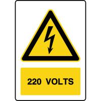 Panneau de danger vertical 220V