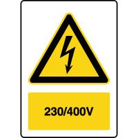 Panneau de danger vertical 230-400V