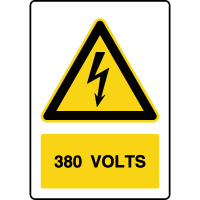 Panneau de danger vertical 380V
