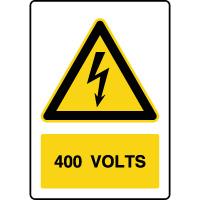 Panneau de danger vertical 400V