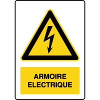 Panneau de danger vertical armoire électrique