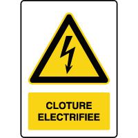 Panneau de danger vertical clotûre électrifiée