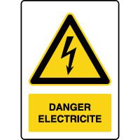 Panneau vertical danger électricité