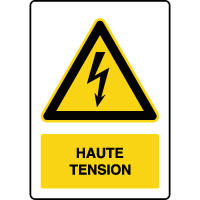 Panneau de danger vertical haute tension