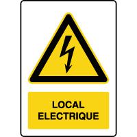 Panneau de danger vertical local électrique