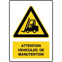 Panneau de danger vertical véhicules de manutention