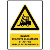 Panneau de danger chariots élévateurs
