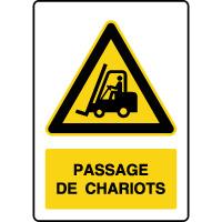 Panneau de danger vertical passage de chariots