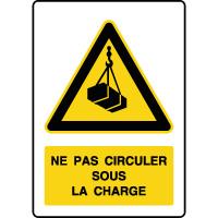 Panneau de danger vertical ne pas circuler sous la charge
