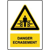 Panneau de danger vertical risque écrasement