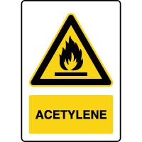 Panneau de danger vertical acétylène