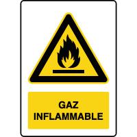 Panneau de danger vertical gaz inflammable