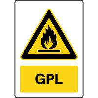 Panneau de danger vertical GPL