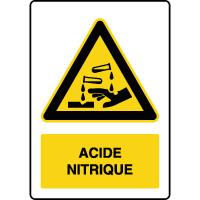 Panneau de danger vertical acide nitrique