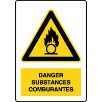 Panneau de danger vertical substances comburantes