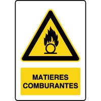 Panneau de danger vertical matières comburantes