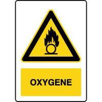 Panneau de danger vertical oxygène