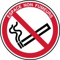 Panneau espace non fumeurs