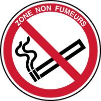 Panneau zone non fumeurs